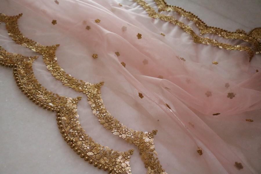 زفاف - Bridal Indian Wedding Dupatta long net embroidered scarf Punjabi dress dupattas with zari embroidery for festival chunni lehenga stole