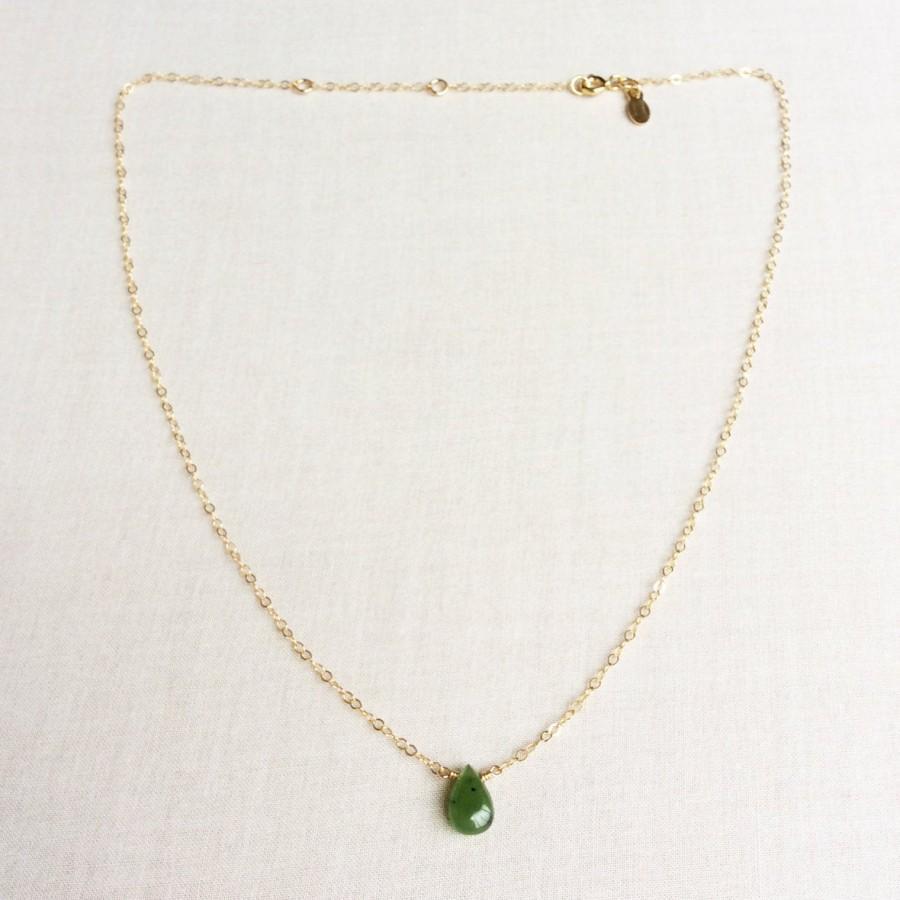 Wedding - Canadian Nephrite Jade Necklace, Jade Necklace, Jade Necklace for Women, Jade Necklace Gold, 14k Jade Necklace, Real Jade Necklace Jade GN26