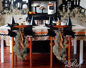 Mariage - Halloween Chair Sashes/ Halloween Decorations. Sets of either 2, 4, 5, 6, 8 or 10 Chair Sashes.  Includes Free Shipping!