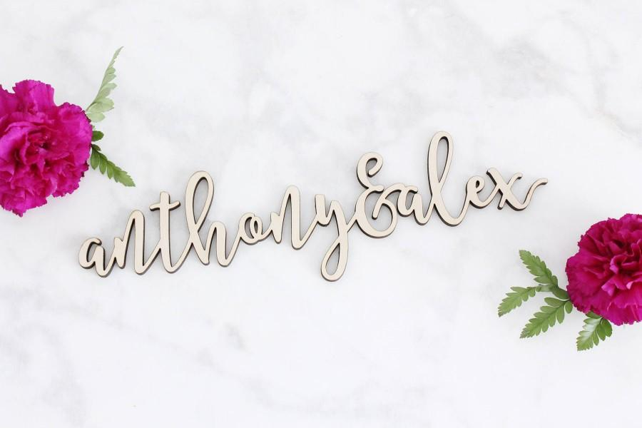 Свадьба - Couple's Name Sign, Wood Name Sign, Custom Wedding Sign, Custom Name Sign, Sweetheart Table Sign, Laser Cut Sign