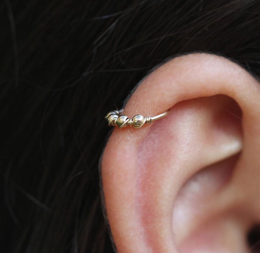 Mariage - Cartilage Hoop Earrings,Gold Hoop Earring,helix hoop earrings,tragus hoop earrings,hoop earring
