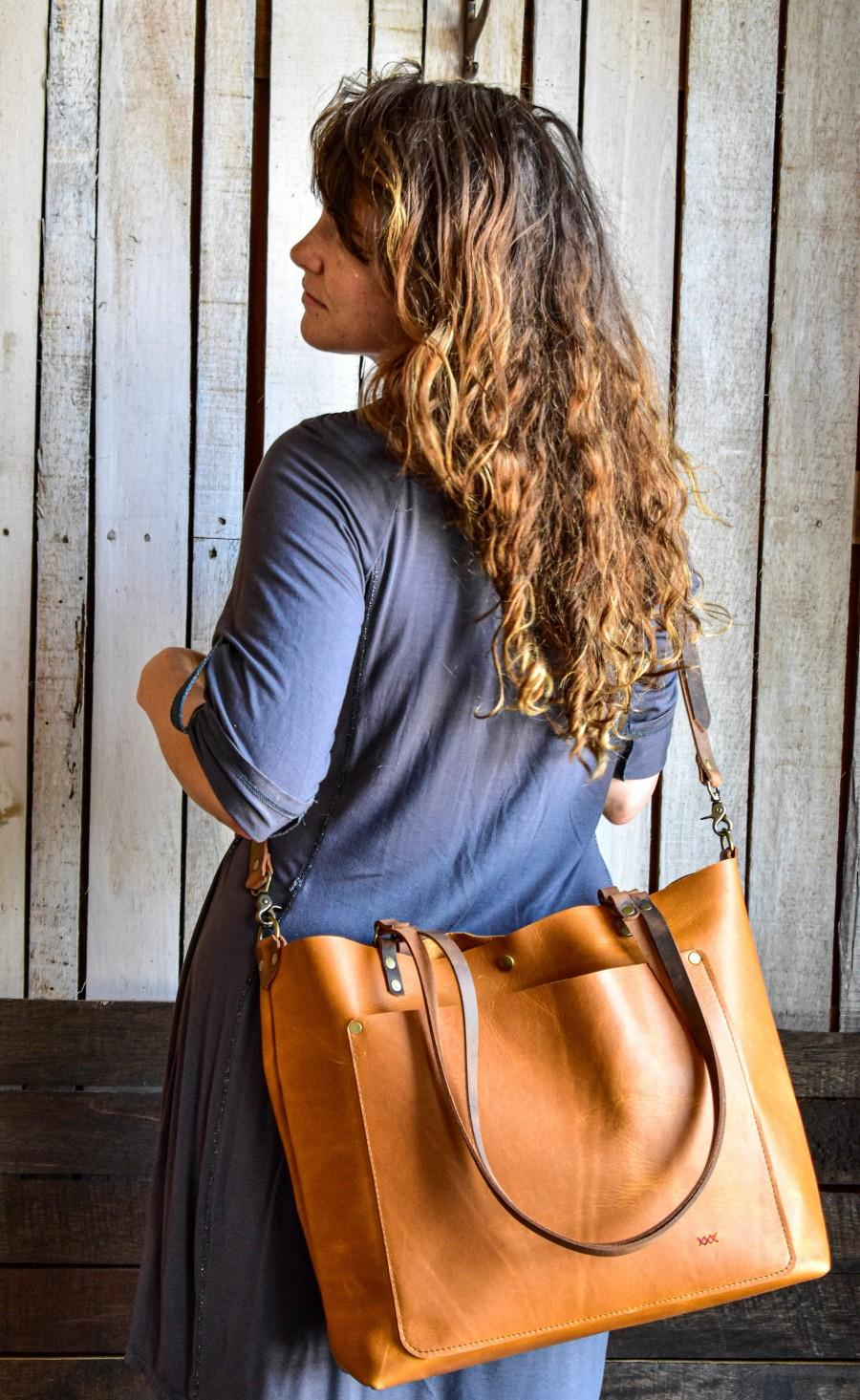 Wedding - Leather Tote Bag