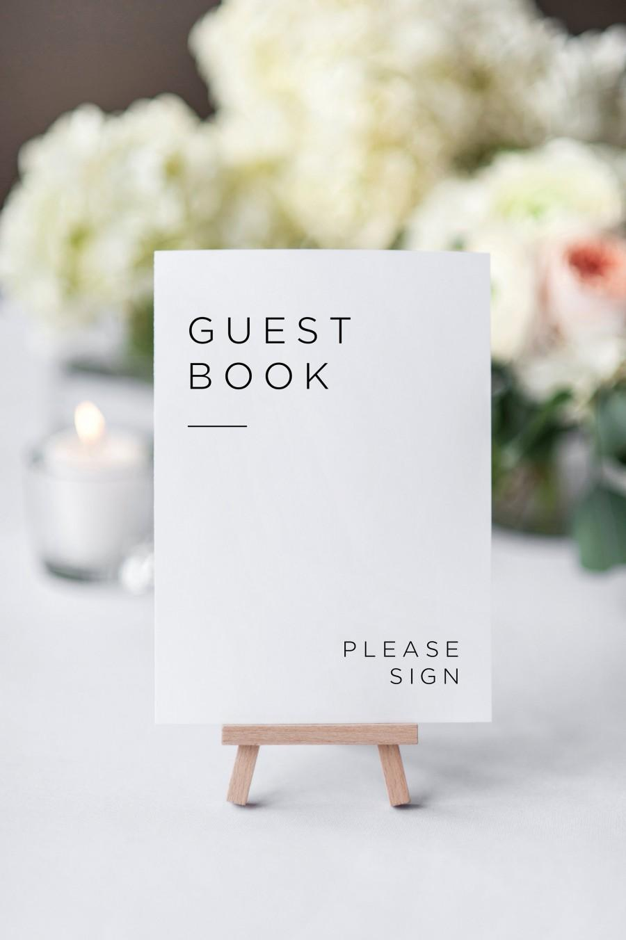 Mariage - Printable Guestbook Sign