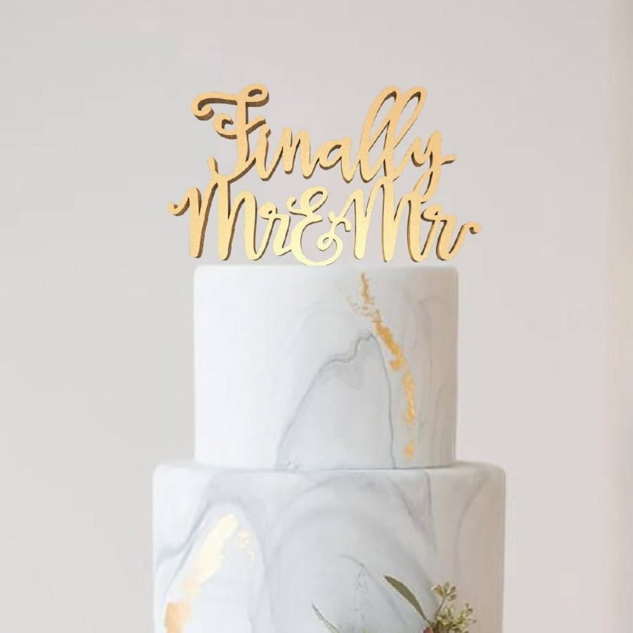Mariage - Wedding Cake Topper, Personalised Cake Topper Same sex topper, Topper Same Sex Wedding Gay Custom Cake Topper, Mr and Mr, Funny Cake Topper