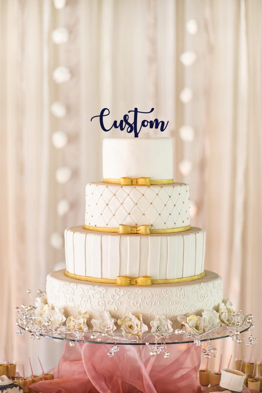 Mariage - Custom Wedding Cake Topper, Personalized Wedding Cake Topper, Personalized Cake Topper, Custom Cake Topper, Custom Wedding Cake Topper