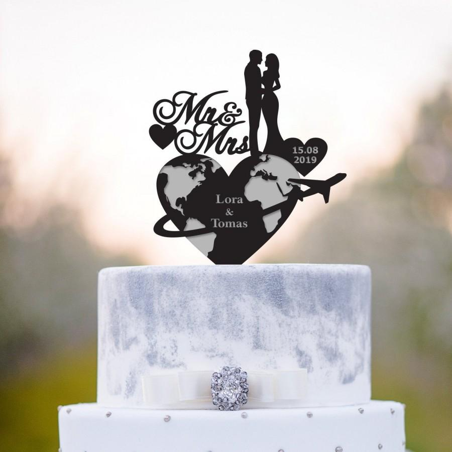 Mariage - Destination wedding,Destination wedding cake topper,Travel wedding cake topper,travel theme wedding cake topper,travel cake topper,a2