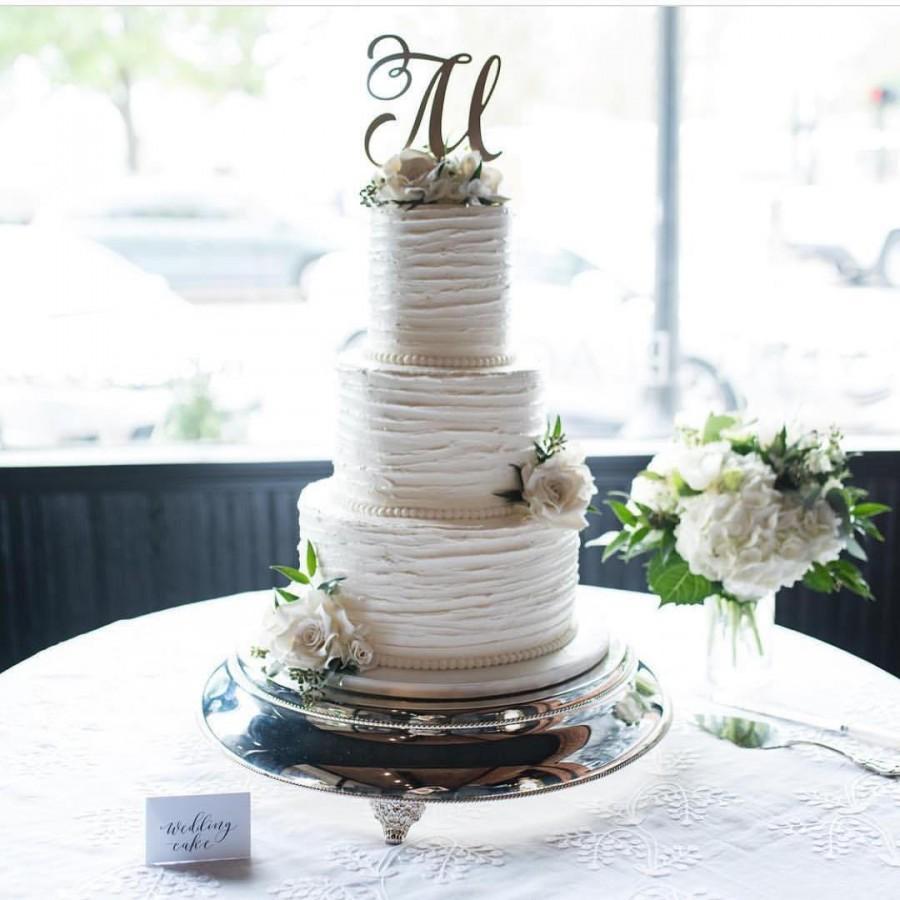Mariage - Monogram Cake Topper, Letter Cake Topper, Wedding Cake Topper,  Custom Cake Topper, Wedding Monogram, Glitter Cake Topper, Rose Gold Cake