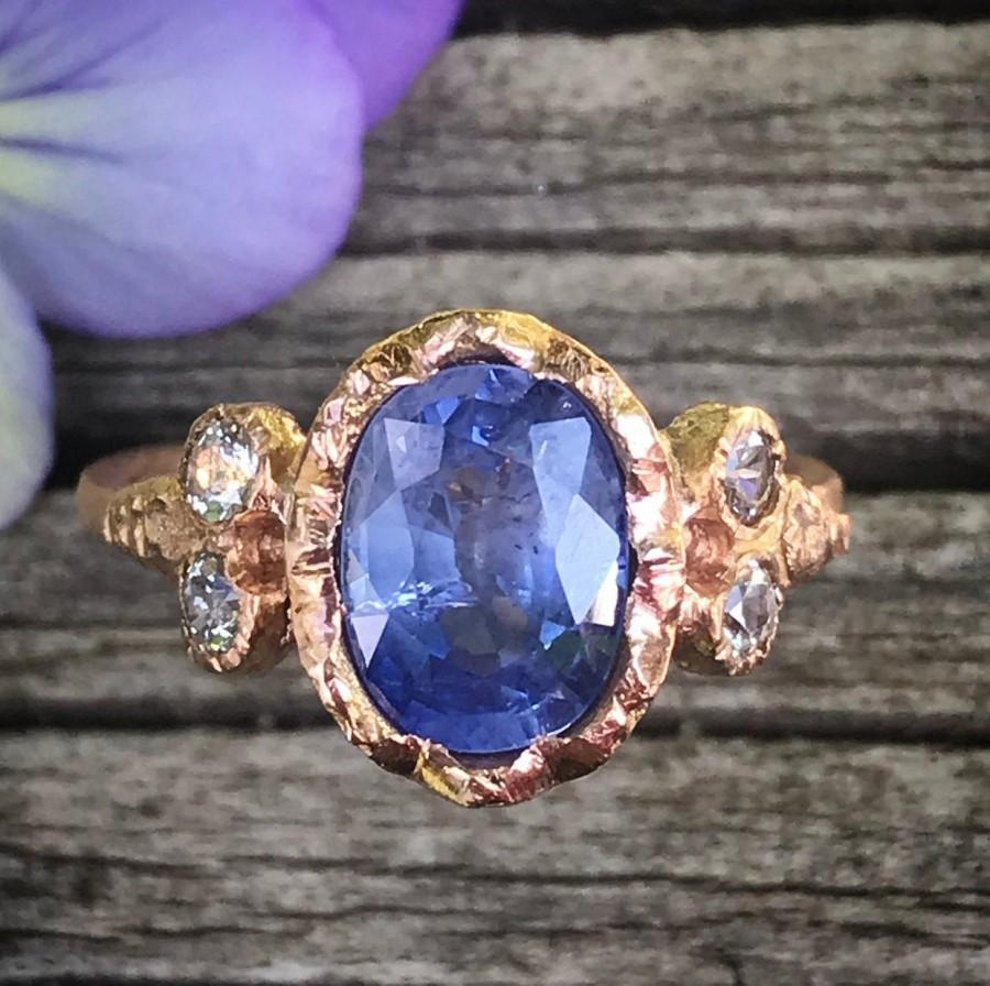 Wedding - Montana Blue Sapphire 14K Rose Gold Ring, Sapphire Stacking Ring, Eco Friendly, Sapphire Gold Engagement Ring - Ship In The Next 9 Days