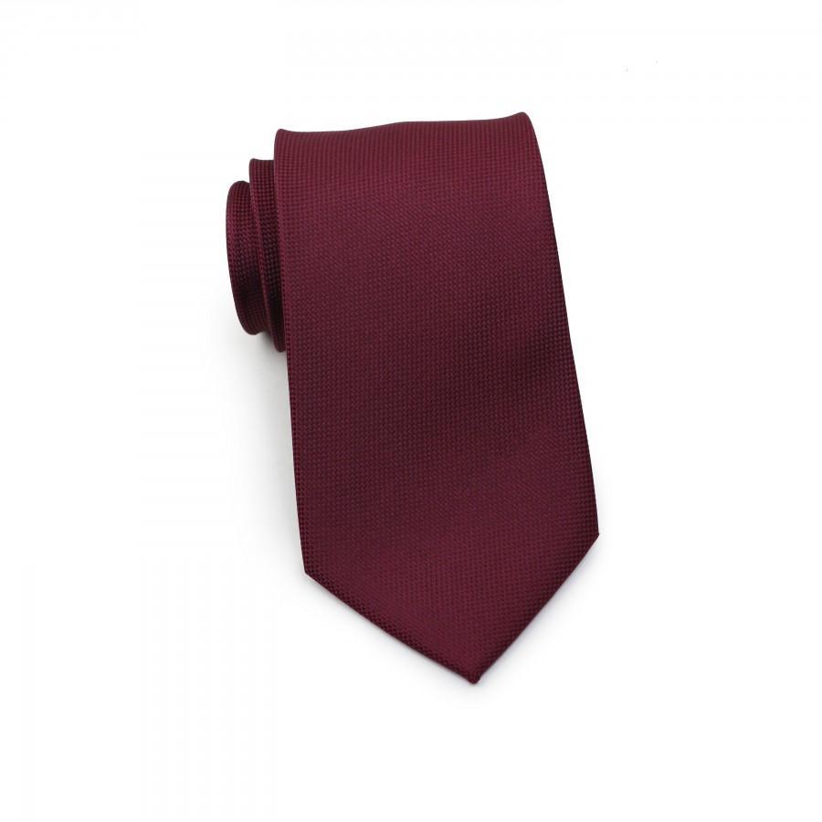 Wedding - Solid Burgundy Tie