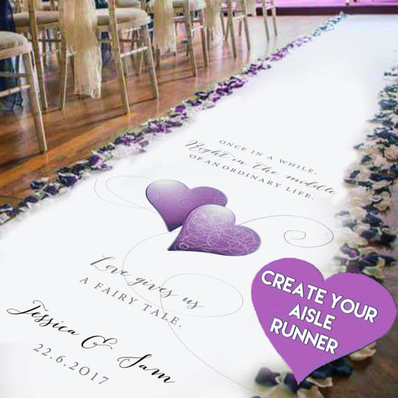 Hochzeit - Create Your Own Personalised Wedding Aisle Runner.Church Aisle Carpet Decoration. Perfect For Wedding and Events