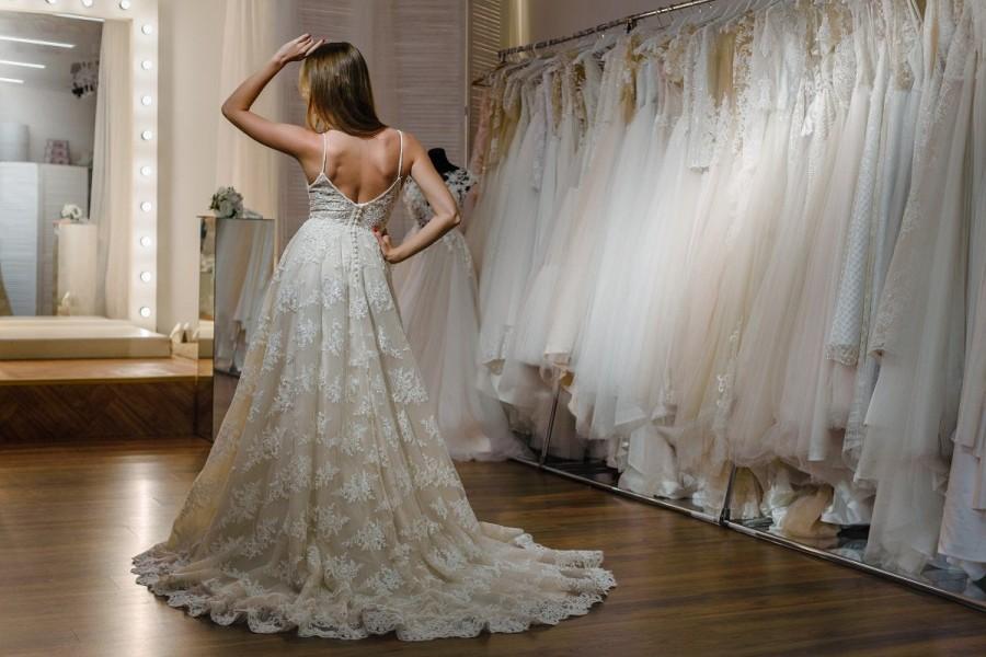 زفاف - Boho Wedding Dress, Beach Wedding Dress, Princess  Wedding Gown, Chiffon Wedding Gown, Long Train Wedding Gown, Open Back Wedding Dress