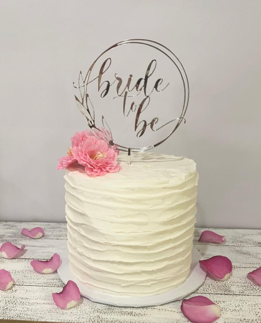Свадьба - Bride to be gold mirror acrylic cake topper bridal shower