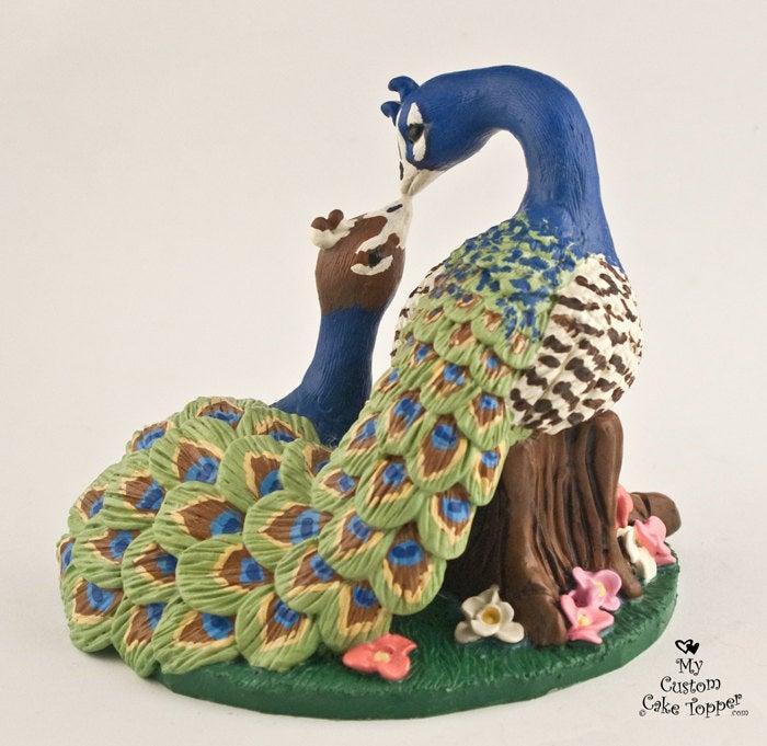 Wedding - Peacock Wedding Cake Topper