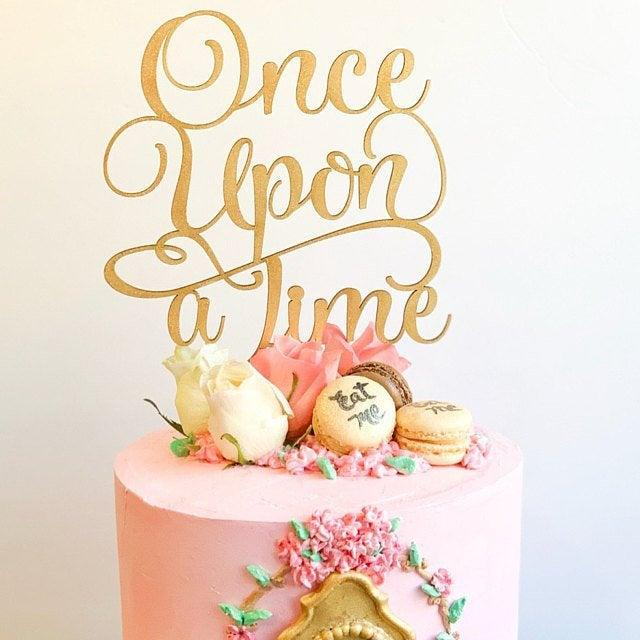 Wedding - Once Upon A Time, Once Upon A Time Cake Topper, Baby Shower Cake Topper, Disney Cake Topper, Disney Wedding, Baby Announcement Cake Topper