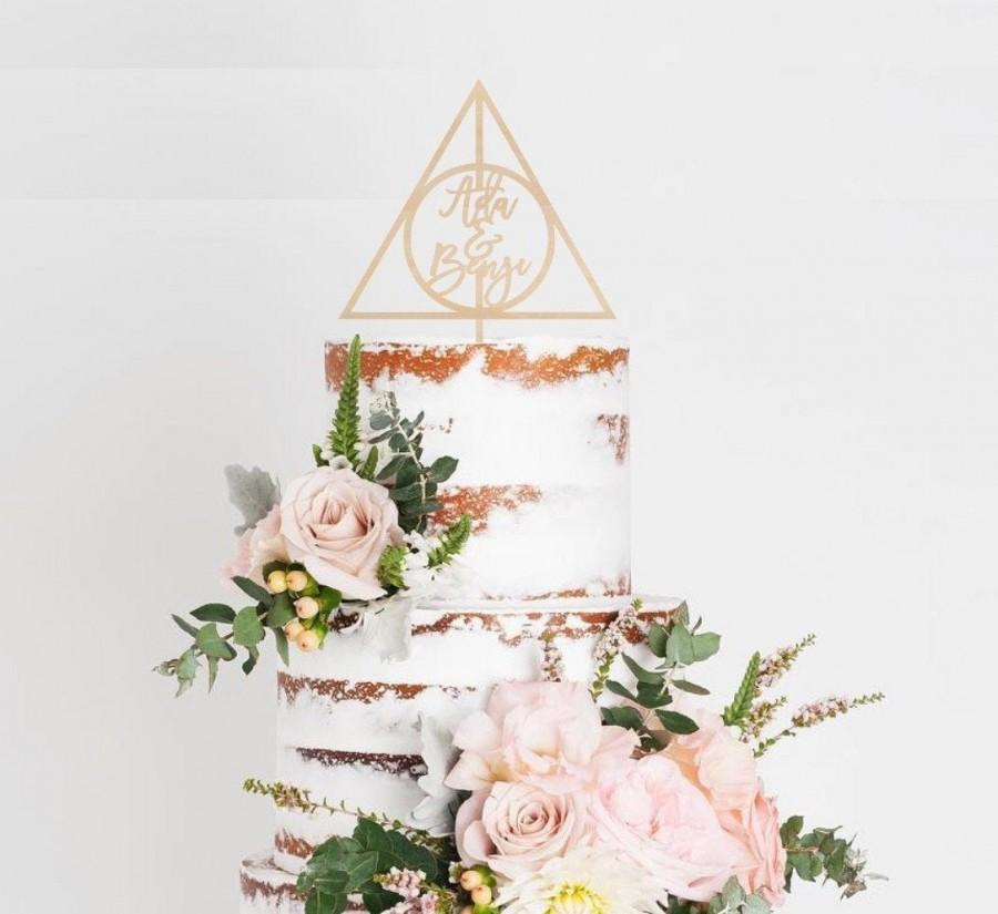 Wedding - Deathly Hallows Cake Topper