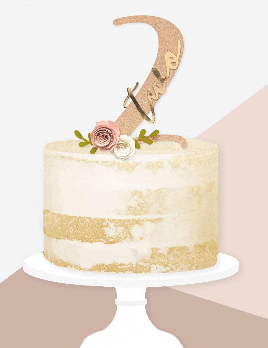 Wedding - Floral Number Birthday Cake Topper