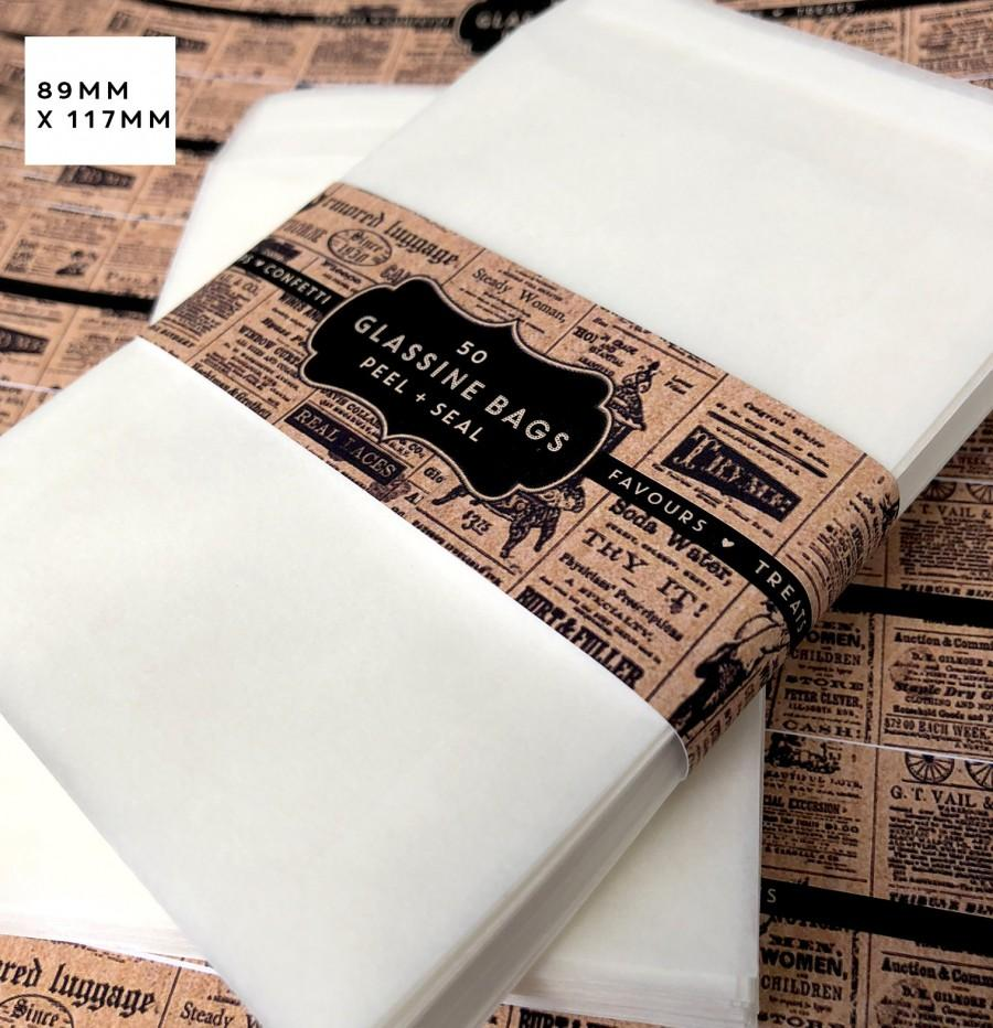 Wedding - Glassine self seal  Confetti Bags x 50