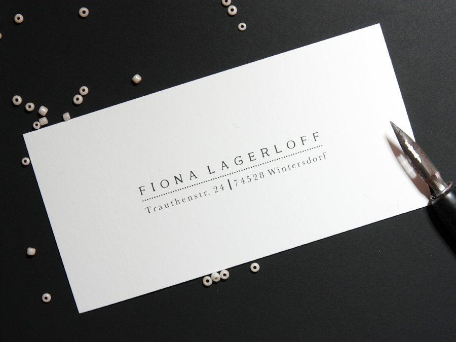 زفاف - Address Stamp-FionaLagerloff