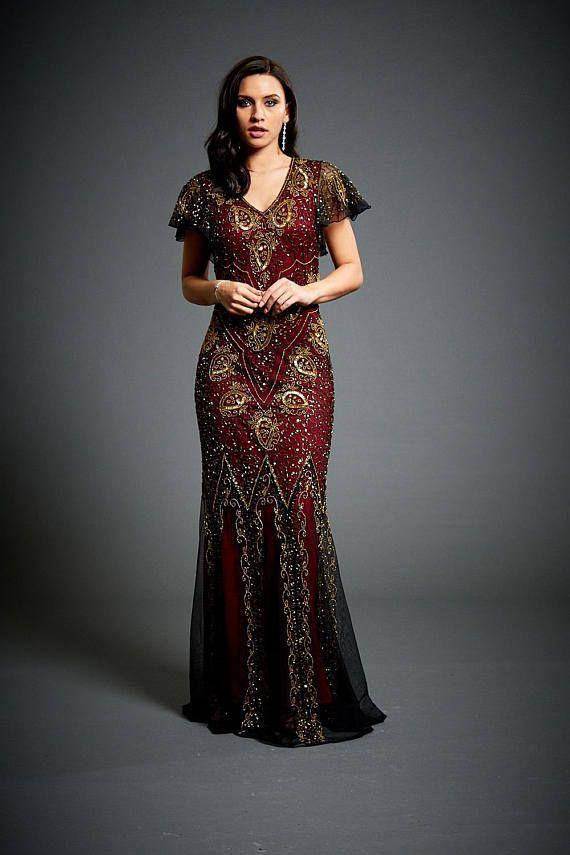 Wedding - Jywal Holly 1920s Great Gatsby Embellished Wedding Dress