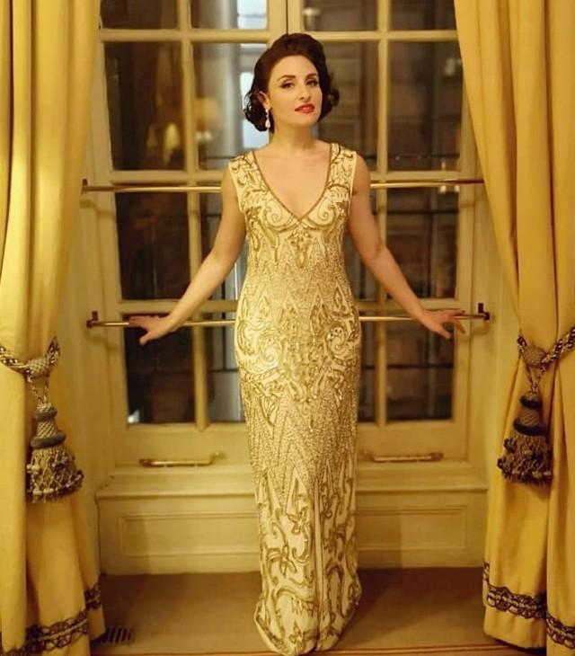 Wedding - Angie Gold Embellished 1920s Wedding Dress