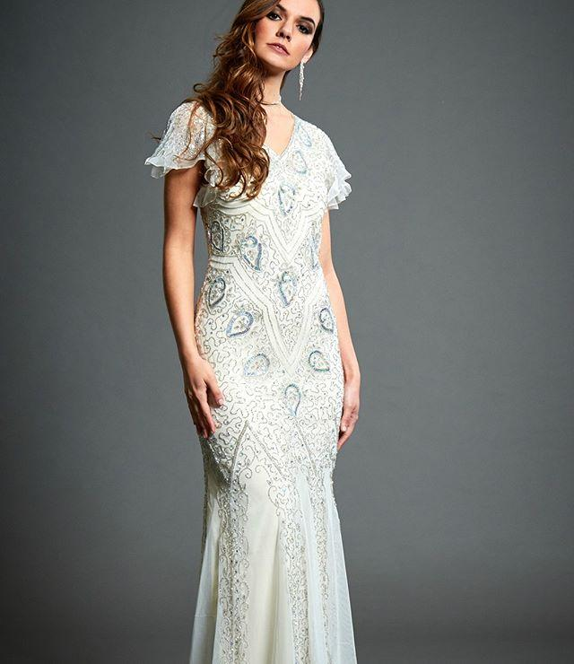 Wedding - Jywal Molly Embellished Gatsby 1920s White Wedding Dress