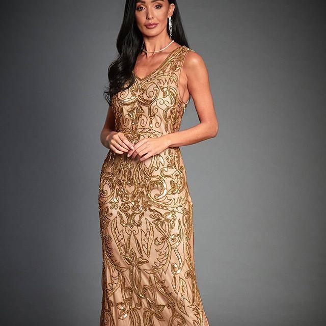 Wedding - Margret Beaded Flapper, Great Gatsby Inspired, Sequined Art Deco Rose Gold Dress, Downton Abbey, Sleeveless 1920s Wedding Dress, Size 8-18UK