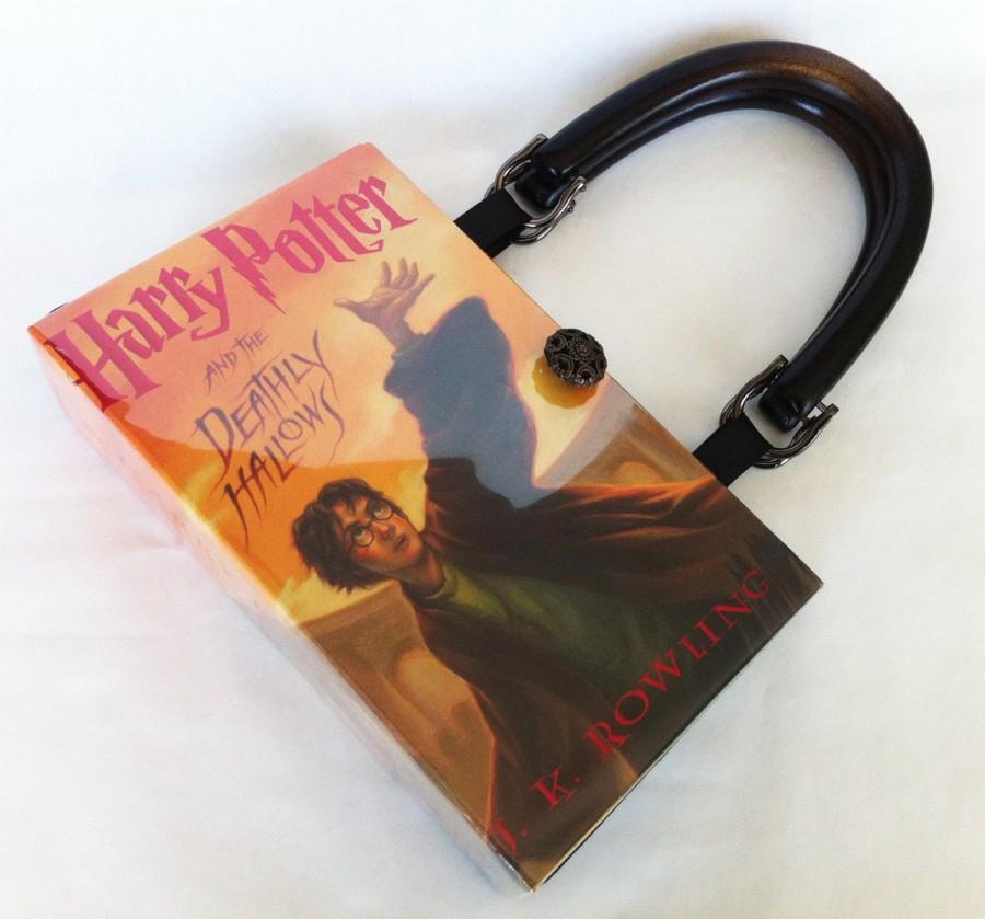 زفاف - Harry Potter and The Deathly Hallows Book Purse - Harry Potter Book Cover Handbag - Deathly Hallow Book Clutch - Harry Potter Collector Gift