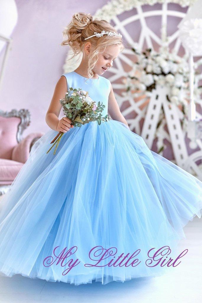 زفاف - Flowers girl Dress, Dress Flowers Girl, Blue Flowers girl Dress, Tutu Flowers girl Dress, Tulle Flowers girl Dress, White Dress Flowers Girl