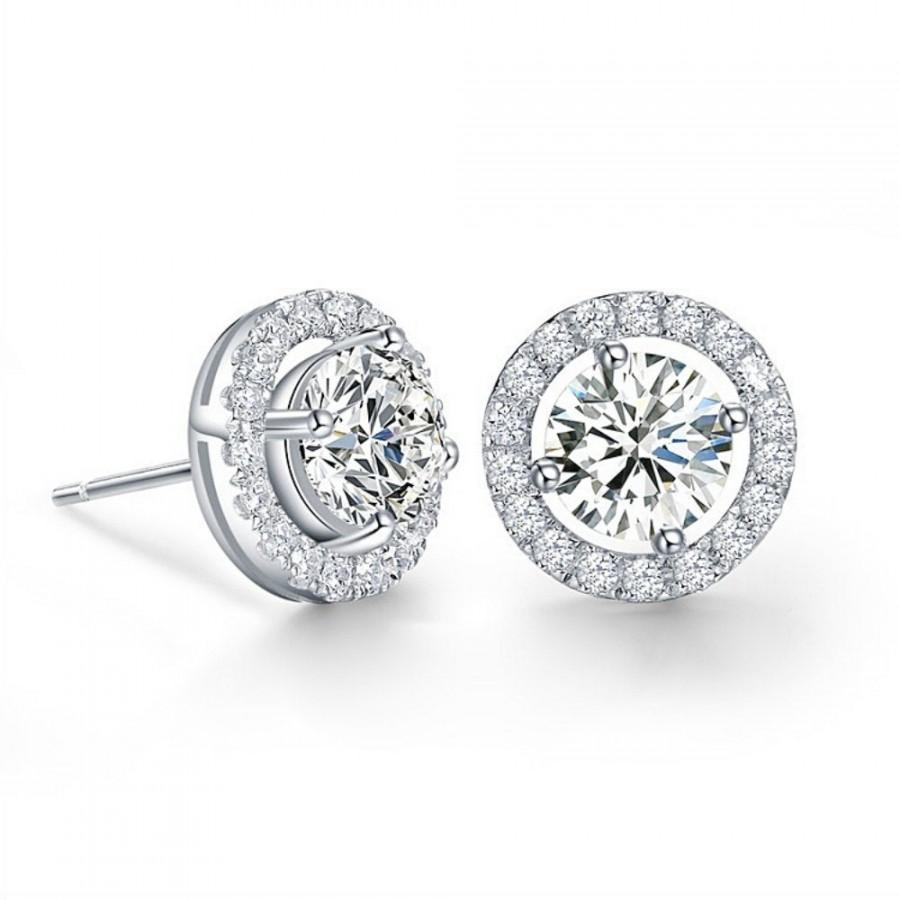 Mariage - Meghan markle earrings, Meghan markle bridal earrings, Megan's crystal earrings, crystal prom earrings, Meghan bridal jewellery, Megan studs