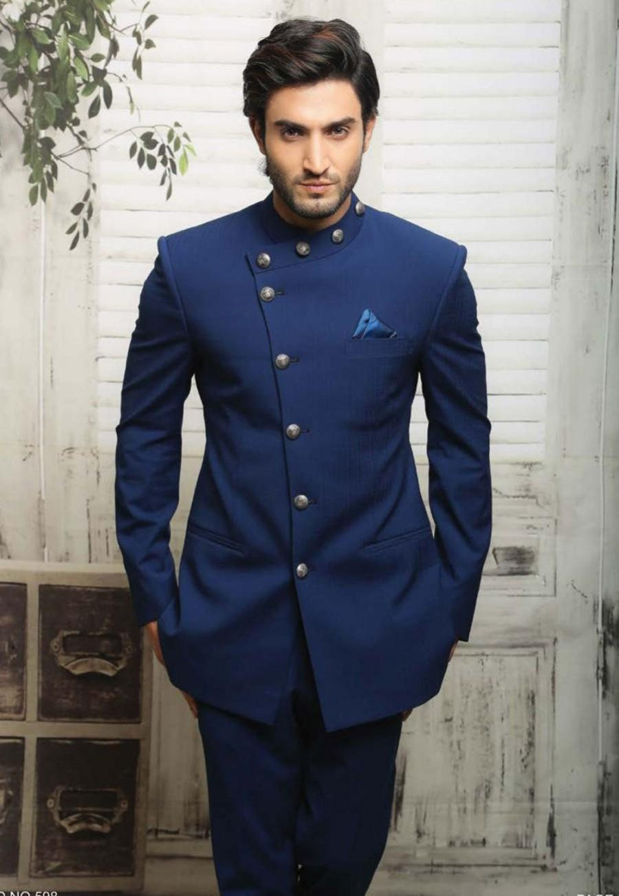 Wedding - Unique Blue Jodhpuri Suit
