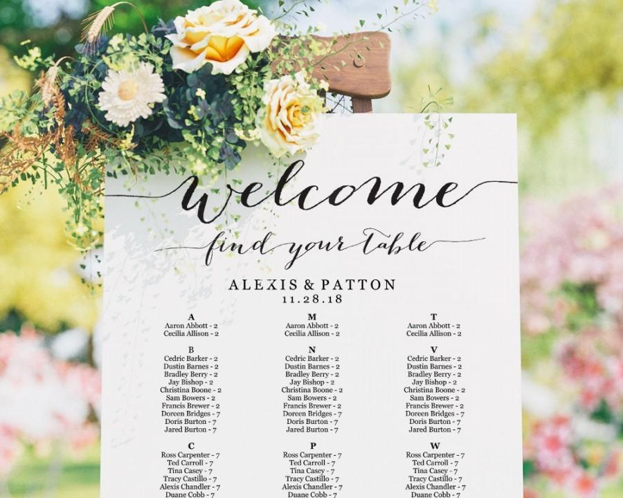Свадьба - Seating Chart, Seating Chart Wedding, Alphabetical Seating Chart Template, Seating Chart Poster, Seating Chart Board, Wedding Seating Sign