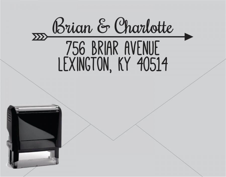 Hochzeit - Self Inking Return Address Stamp * Custom Address Rubber Stamp (E029) Arrow