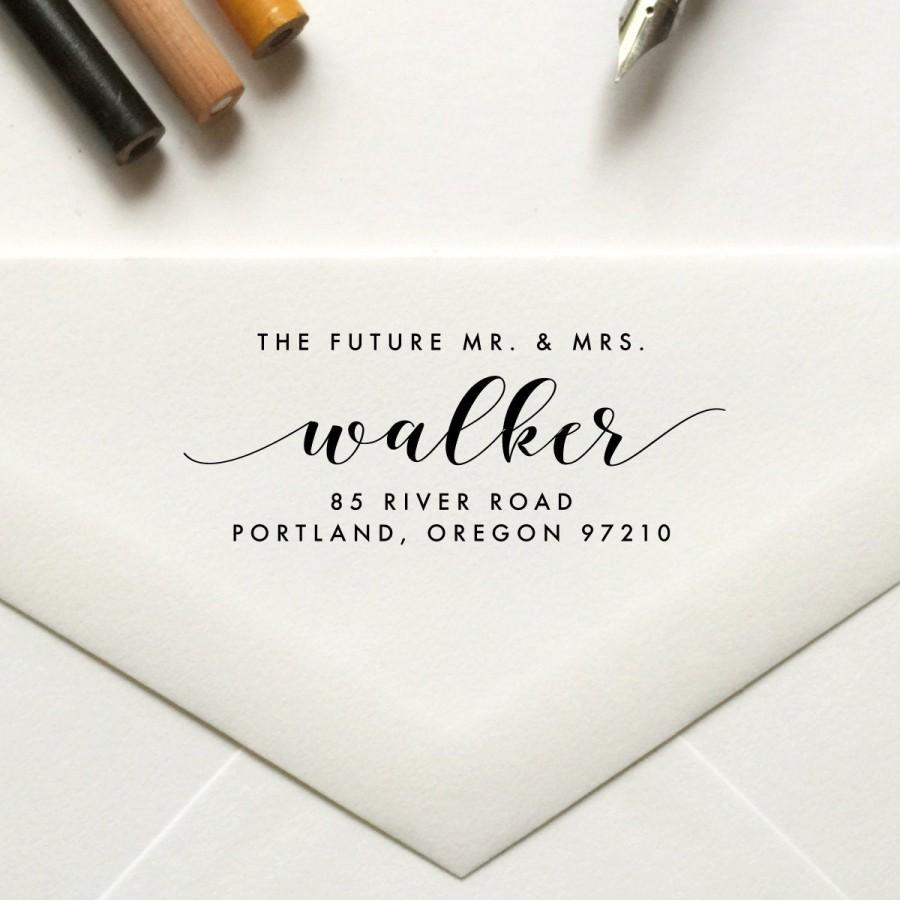 Wedding - The Future Mr and Mrs Stamp, Return Address Stamp, Custom Stamp, Personalized, Self Inking Stamp, Rubber Stamp, Save the Date Stamp - No 113