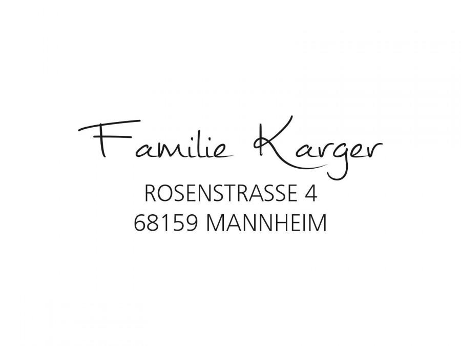 زفاف - Stamp Address