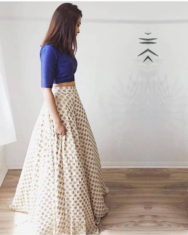 Свадьба - Indian Pakistani lehenga choli for women party wear lehenga for women indian sari Indian wedding lehenga crop top indian dresses white dress