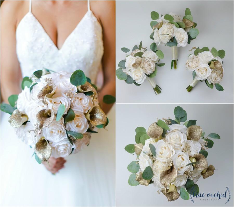 زفاف - wedding bouquet, wedding flowers, boho bouquet, bridal bouquet, gold, glitter, winter bouquet, christmas bouquet, wedding flower package