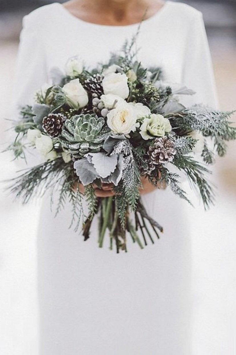 Свадьба - Bridal bouquet, wedding bouquet, winter bouquet, made to order