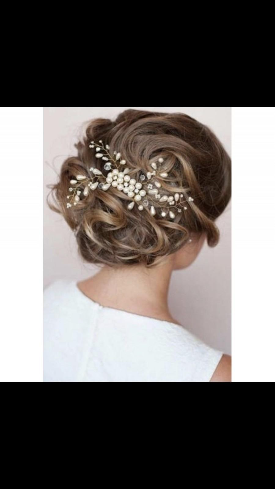 Свадьба - Bridal wedding hairbomb, Pearl firework hair comb, bridal hair comb, wedding hair comb, pearl hair comb, silver, gold, rose gold