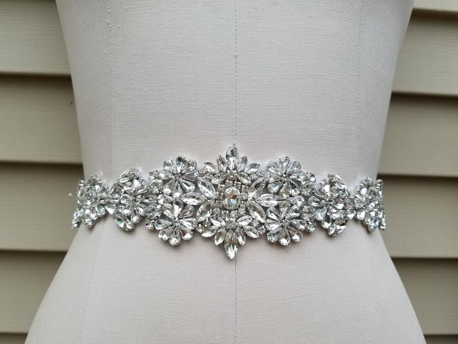Свадьба - SALE  - Wedding Belt, Bridal Belt, Sash Belt, Crystal Rhinestone - Style B19787