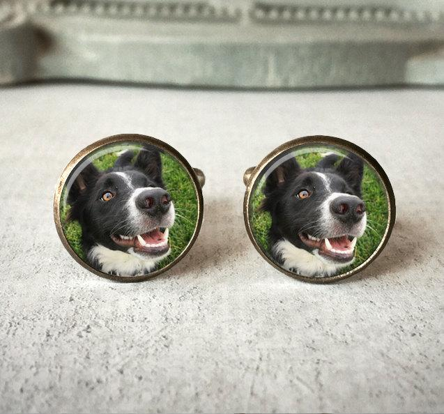 Mariage - Personalized Cufflinks, Custom Pet Cufflinks, Dog Cuff links, Custom Cufflinks, Photo Cufflinks, Memory Keepsake, Gift For Him
