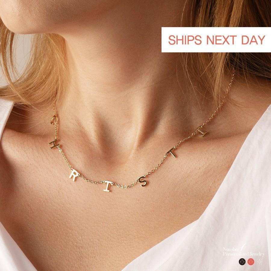 Hochzeit - Name Necklace for Women Custom Letter Necklace Personalized Name Necklace Custom Name Necklace Personalized Name Jewelry Kids name Necklace