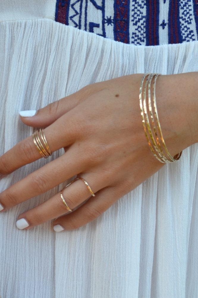 Свадьба - Adult Gold filled Bracelet 12 gauge Bangle, Solid Stacking Bracelet Bangle, Hammered Bangle, Maui Hawaii Bangle, Beach Bangles, Beach Boho B