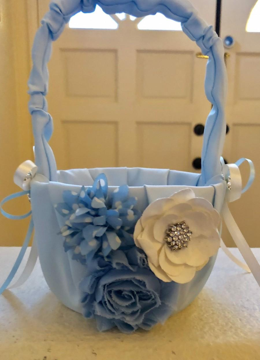 زفاف - FLOWER GIRL BASKET (Blue)