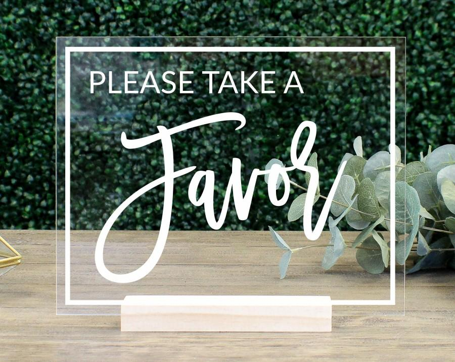 Mariage - Favors Table Sign