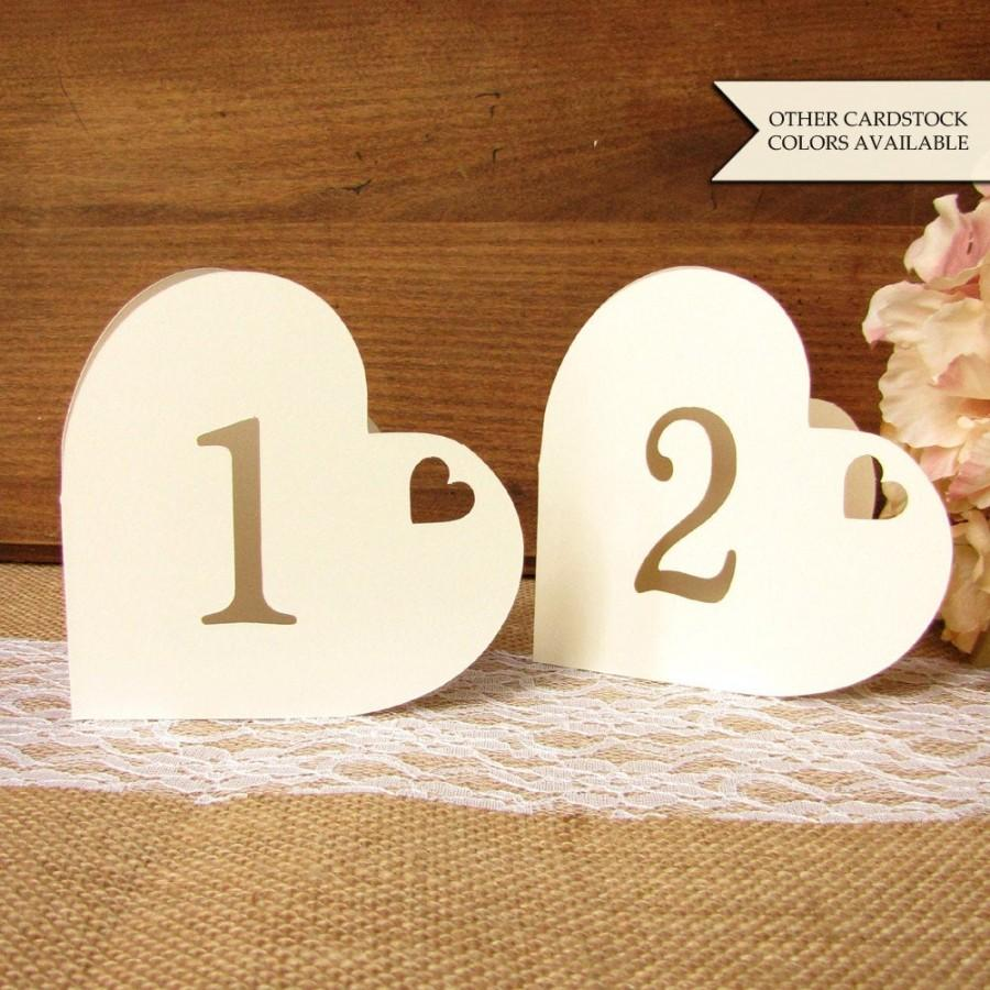 Wedding - Heart table numbers - Table numbers wedding - Romantic table numbers - Wedding table numbers - Table numbers - Valentines day wedding