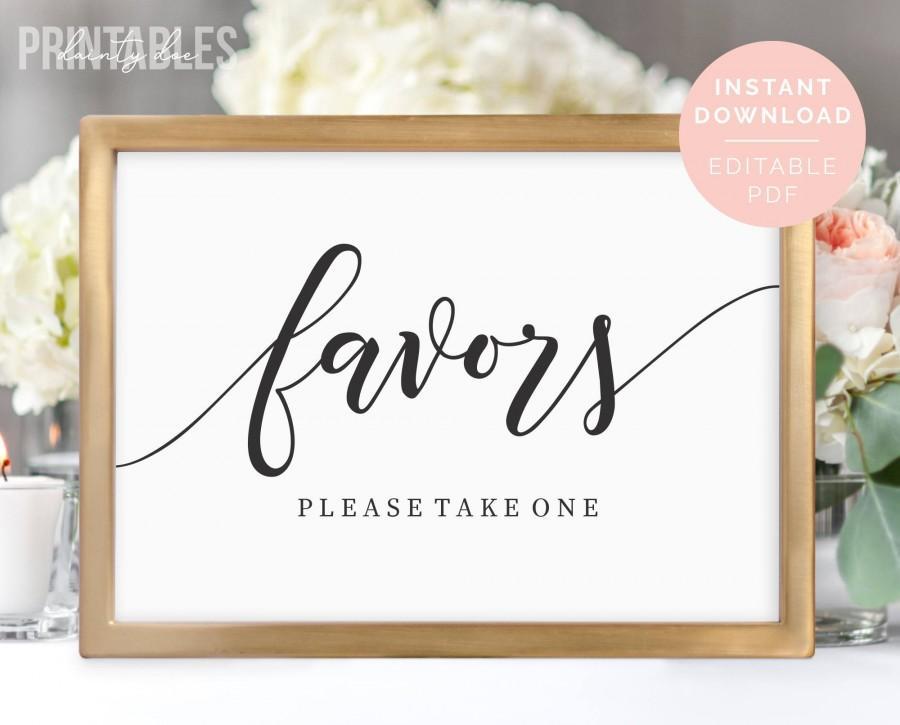 Mariage - Printable Wedding Favors Sign