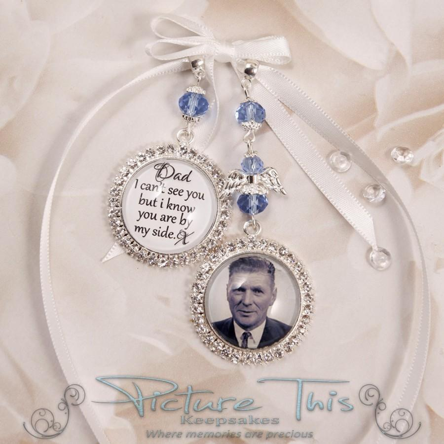 Hochzeit - Custom Bouquet Charm, Wedding Bouquet Charm, Double charm, Diamante Photo Charm, Custom Photo Charm, Memorial Photo Charm, Triple charm.