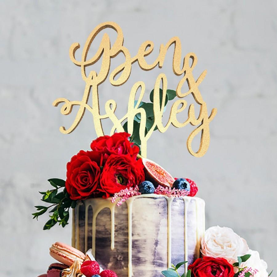 Mariage - Cake Topper Personalized Name Wedding, Mr Mrs Topper, Mr And Mrs Ben and Ashley, Cake Topper, Wedding Cake , Personalized Cake, Cake Toppers