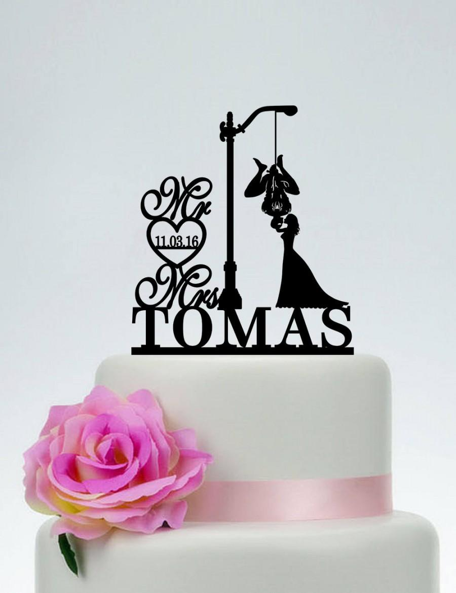 زفاف - Spider-Man and Bride Cake Topper, Spider Man Cake Topper , Mr and Mrs Wedding Cake Topper,Kissing Cake Topper, Custom Cake Topper - C223