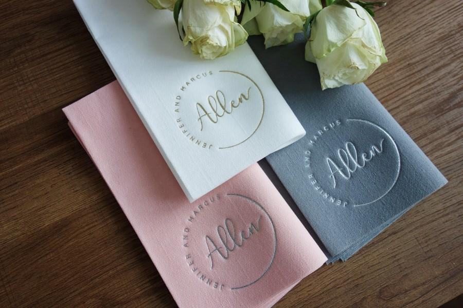 Mariage - Personalized napkins, DINNER,napkins, serwetki, Bedruckte Servietten, Hochzeit, Personalized Napkins, Wedding napkins, Decorpress